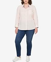 662a54a177c12 Tommy Hilfiger Plus Size Heritage Cotton Utility Shirt