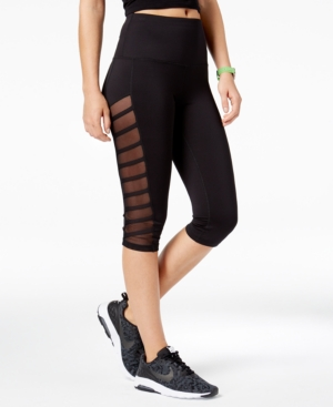 Material Girl Active Juniors' Illusion Strap Cropped Yoga Leggings, Created for Macy's
