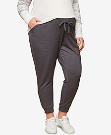 Motherhood Maternity Plus Size Under-Belly Jogger Pants