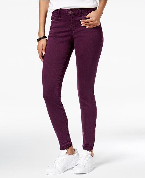 Black Daisy Juniors' Billie Released-Hem Skinny Jeans