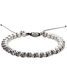 DEGS & SAL Men's Skull Bolo Bracelet in Sterling Silver
