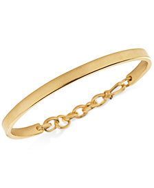 DEGS & SAL Men's Chain Hook Bangle Bracelet in 14k Gold-Plated Sterling Silver