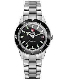 Rado Unisex Swiss Automatic Hyperchrome Stainless Steel Bracelet Watch 37.3mm
