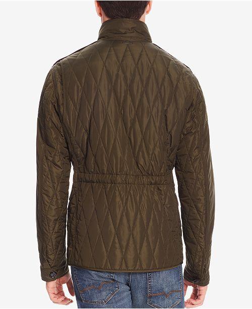 Hugo Boss Boss Mens Water Repellent Quilted Field Jacket Coats