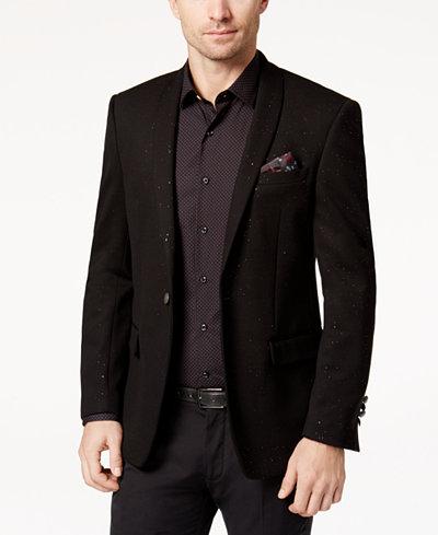 Tallia Men's Slim-Fit Black Sparkle Dinner Jacket