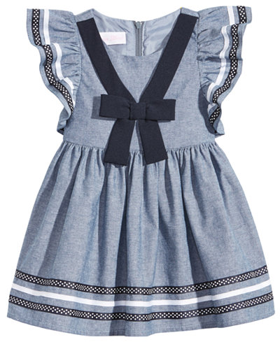 Bonnie Baby Chambray Nautical Dress, Baby Girls