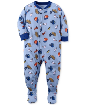 Carters 1Pc SportsPrint Footed Pajamas Baby Boys (024 months)
