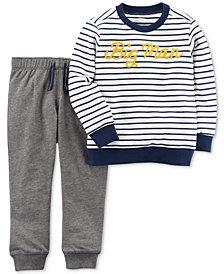 Carter's 2-Pc. Cotton Big Man Sweatshirt & Jogger Pants Set, Baby Boys