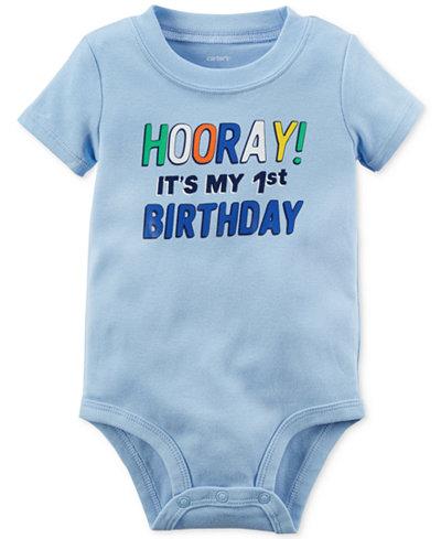 Carter's Hooray 1st Birthday Cotton Bodysuit, Baby Boys