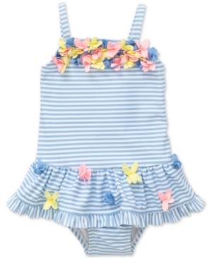 Little Me 1Pc Striped Floral Swimsuit Baby Girls (024 months)