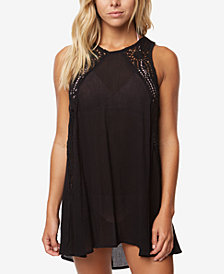 O'Neill Juniors' Sophie Crochet-Trim Dress Cover-Up,Created for Macy's Style