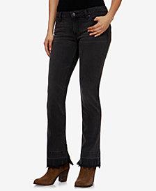 Lucky Brand Shrunken Bootcut Frayed-Hem Jeans