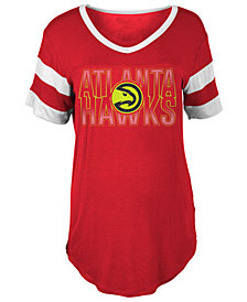 5th & Ocean Women's Atlanta Hawks Hang Time Glitter T-Shirt