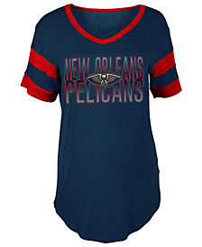 5th & Ocean Women's New Orleans Pelicans Hang Time Glitter T-Shirt