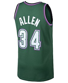 Mitchell & Ness Men's Ray Allen Milwaukee Bucks Hardwood Classic Swingman Jersey