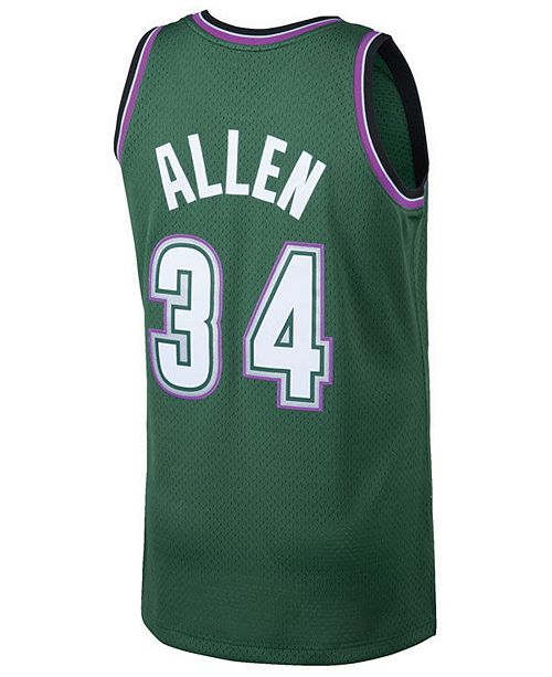 super popular e8930 9f2c2 Men's Ray Allen Milwaukee Bucks Hardwood Classic Swingman Jersey