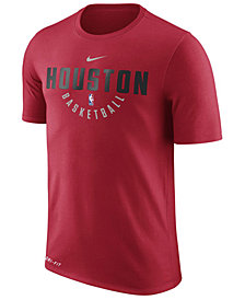 Nike Men's Houston Rockets Dri-FIT Cotton Practice T-Shirt