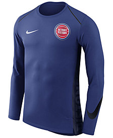 Nike Men's Detroit Pistons Hyperlite Shooter Long Sleeve T-Shirt