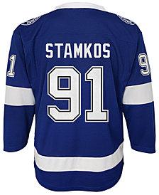 Authentic NHL Apparel Steven Stamkos Tampa Bay Lightning Player Replica Jersey, Big Boys (8-20)