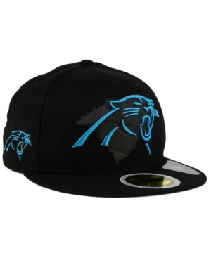936c18184382d New Era Carolina Panthers State Flective Metallic 59Fifty Fitted Cap In  Black Lightblue