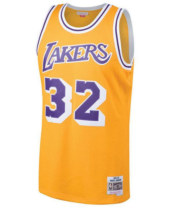 Mitchell & Ness Men's Magic Johnson Los Angeles Lakers Hardwood Classic Swingman Jersey