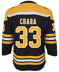 Authentic NHL Apparel Zdeno Chara Boston Bruins Player Replica Jersey, Big Boys (8-20)