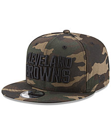 New Era Cleveland Browns Camo on Canvas 9FIFTY Snapback Cap