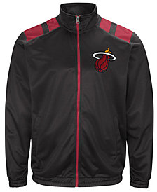 G-III Men's Sports Miami Heat Broad Jump Track Jacket