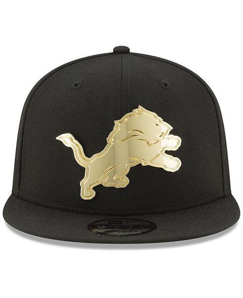 e32b2b172a4 New Era Detroit Lions O Gold 9FIFTY Snapback Cap - Sports Fan Shop ...