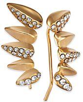 I.N.C. Gold-Tone Pavé Ear Climbers, Created for Macy's