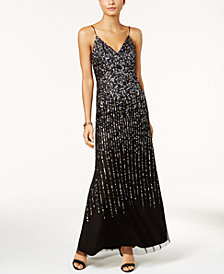 Adrianna Papell Sequined Gown