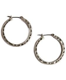 """Earrings, Small 1"""" Round Hoop"""