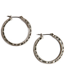 "Lucky Brand Earrings, Small 1"" Round Hoop"
