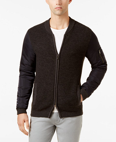 Calvin Klein Jeans Men's Big and Tall Full-Zip Sweater