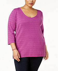 Love Scarlett Plus Size Braided-Back Tunic Sweater