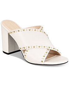 Cole Haan Gabby Studded Slip-On Block-Heel Sandals