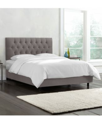 Addison Queen Velvet Bed, Quick Ship