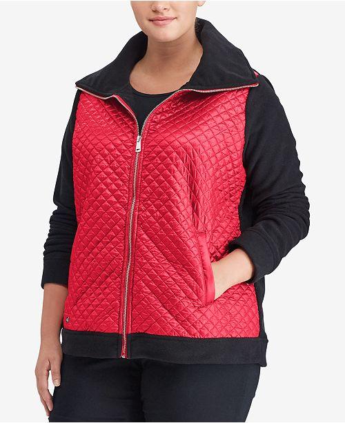 e3db7d72ed9 Lauren Ralph Lauren Plus Size Fleece Jacket   Reviews - Jackets ...