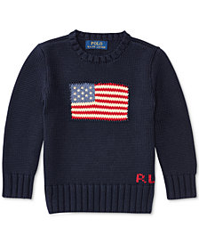 Ralph Lauren Combed Cotton Sweater, Little Boys