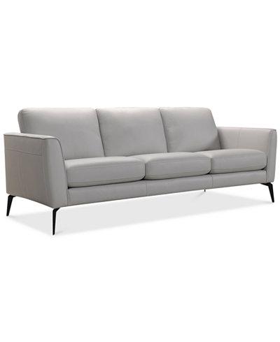 Leather Sofa Macys Furniture Myia 82 Leather Sofa Created