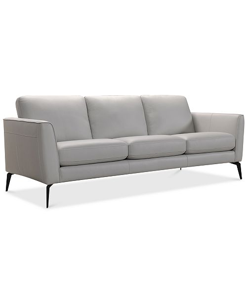 "Macys Sofa: Furniture CLOSEOUT! Renleigh 86"" Leather Sofa, Created For"