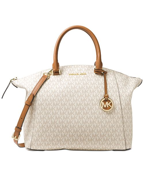 2b6faa96c599 Michael Kors Signature Riley Large Satchel   Reviews - Handbags ...