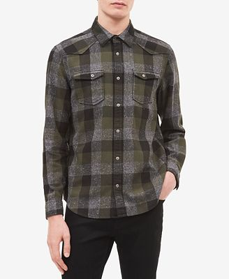 Calvin Klein Jeans Men's Buffalo Plaid Shirt
