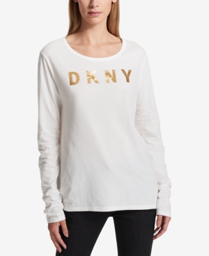 Dkny Cotton Logo-Print...