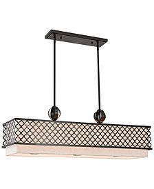 Livex Arabesque 9-Light Linear Chandelier