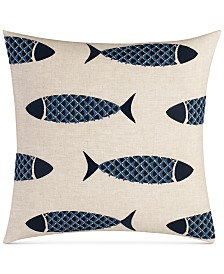 "Nautica Lockridge 18"" x 18"" Fish Decorative Pillow"