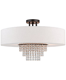 Livex Carlisle 5-Light Semi-Flush Mount