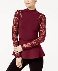 INC Lace Peplum Sweater, Created for Macy's