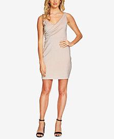CeCe Metallic Surplice Dress