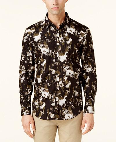 Calvin Klein Jeans Men's Splash-Print Shirt
